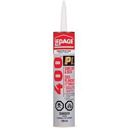 LePage PL 400 Subfloor & Deck Adhesive 295mL