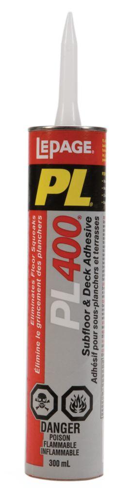 PL 400 Adhésif pour sous-planchers et terrasses (300ml)