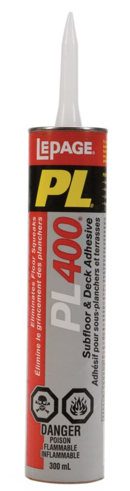 PL 400 Subfloor & Deck Adhesive (300ml)