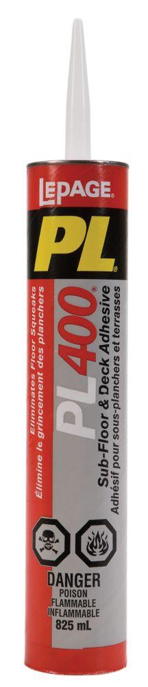 PL 400 Adhésif pour sous-planchers et terrasses (825ml)