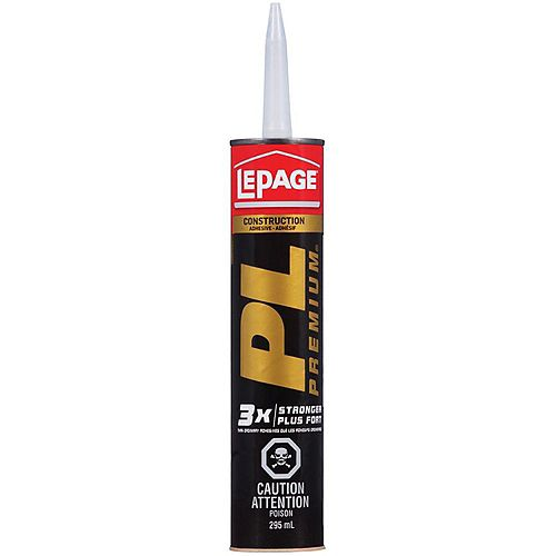 LePage PL Premium 295 mL Waterproof Interior/Exterior Construction Adhesive