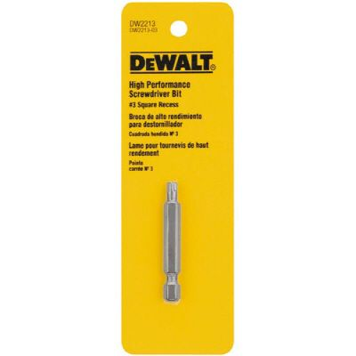 DEWALT #3 Square Recess High Performance Screwdriver Bit