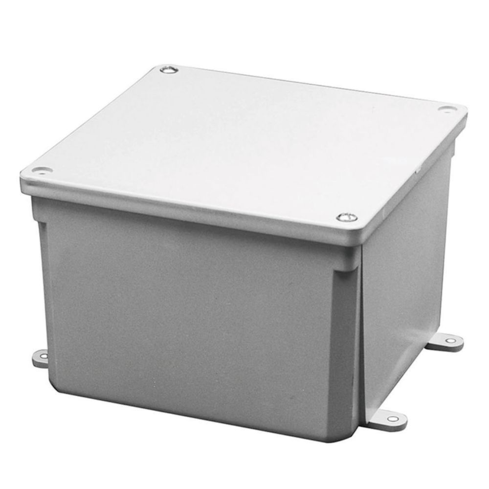 Boîte de Jonction En PVC � 4x4x2 Pouces