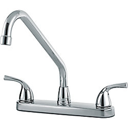 Classic Two Handle Kitchen Faucet, Chrome
