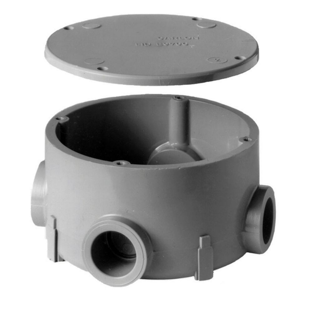 PVC Round Junction Box � 1/2 Inch