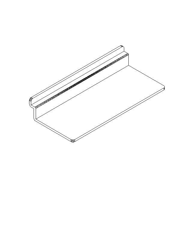 "Slotwall Accessory #1213 plastic 4"" x 10 shoeshelf"
