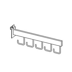 Slotwall Accessory #2809 Chrome 16 Inch Cascading Bar With 5 Hooks