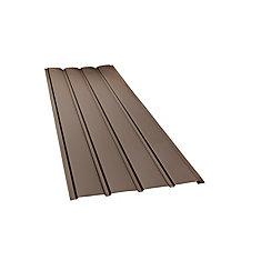 Rainwear 16-inch x 10 ft. Aluminum Solid Soffit in Brown