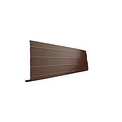 Peak Products Bordure d'avant-toit en aluminium - Brun - 1 pouce x 8 pouces x 10 pieds