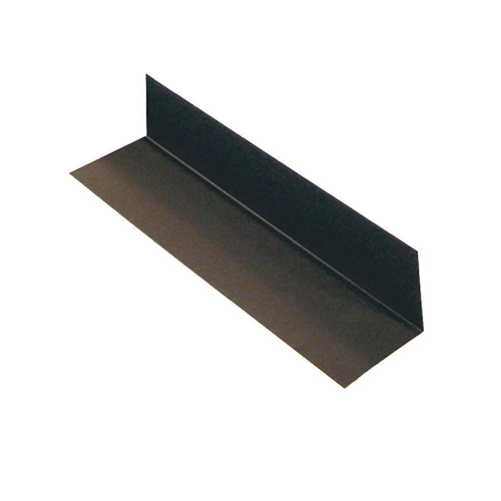 Flashing Step 4 In.x4 In.x9 In. - Brown Galvanized