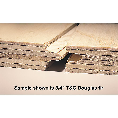 3/4 inch 4 ft. x8 ft. Standard Spruce Plywood Tongue & Groove