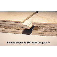 3/4 Inch 4 Feet x8 Feet Standard Spruce Plywood Tongue & Groove