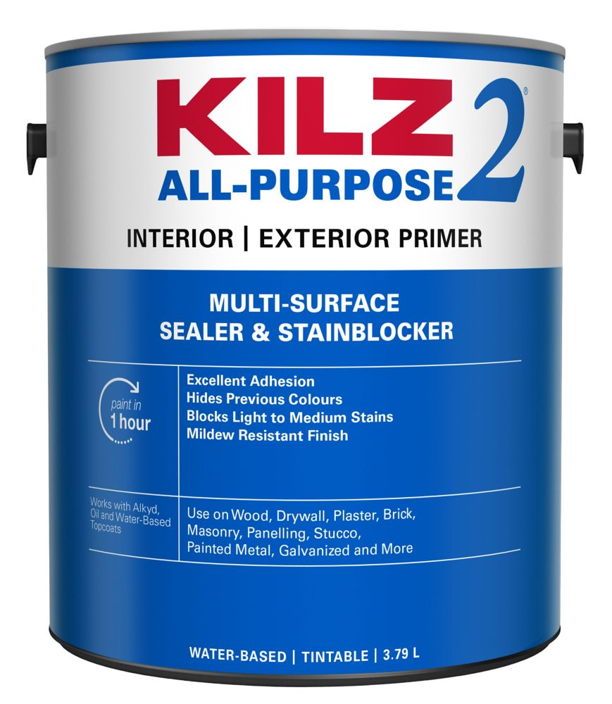Kilz Latex Interior Exterior Primer Sealer Stainblocker The Home Depot Canada
