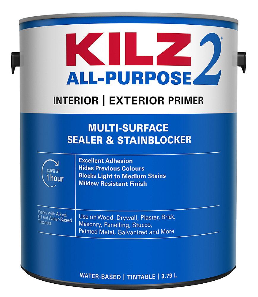 KILZ Latex Interior/Exterior Primer, Sealer, Stain Blocker