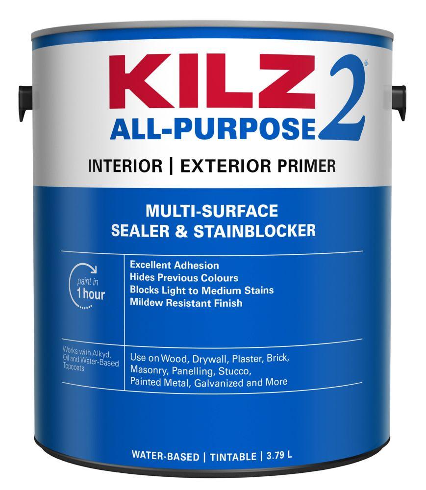 Latex Interior/Exterior Primer, Sealer, Stainblocker - 3.79L