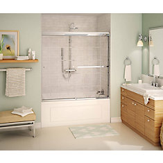Noble 2-Panel Frameless French Door Pattern Tub Door