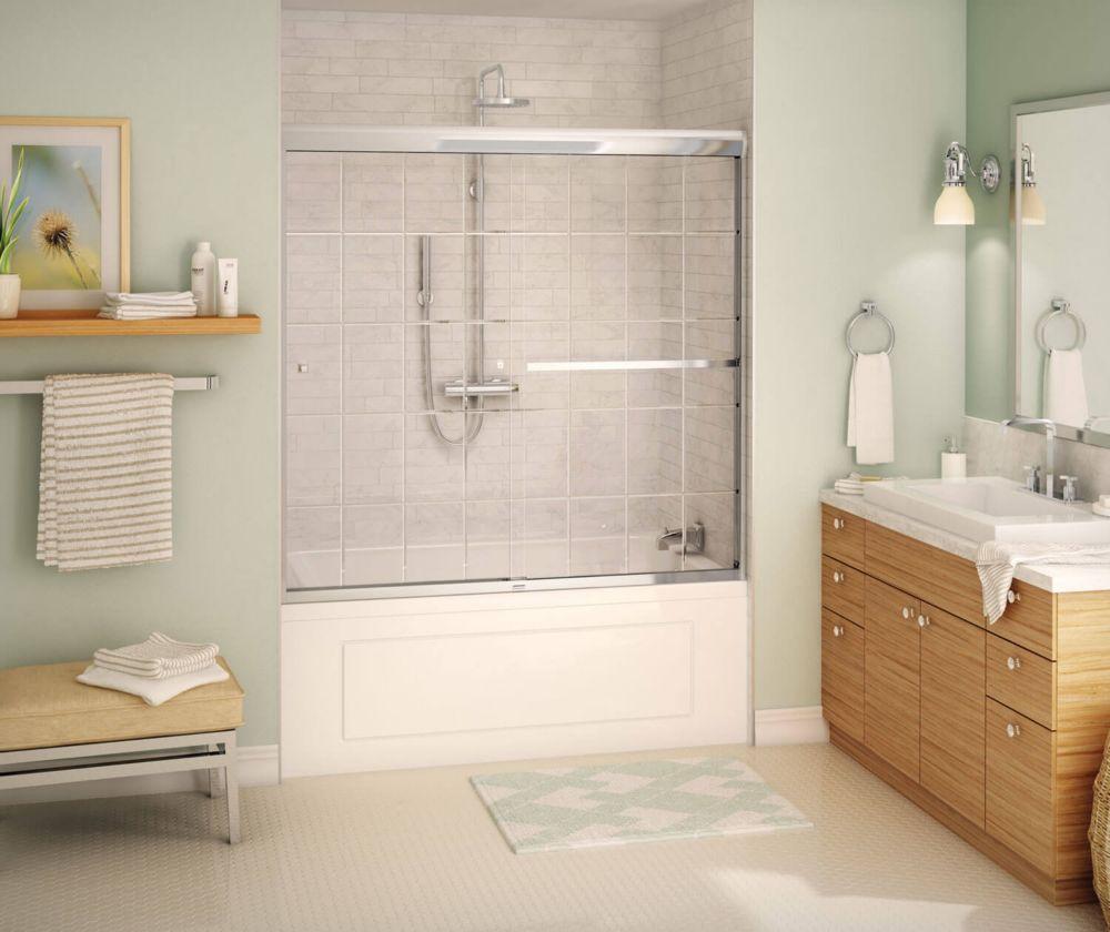 MAAX Noble 2-Panel Frameless French Door Pattern Tub Door | The Home ...