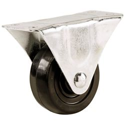 Everbilt 1-1/2-inch Soft Rubber Wheel Rigid Caster with 40 lb. Load Rating