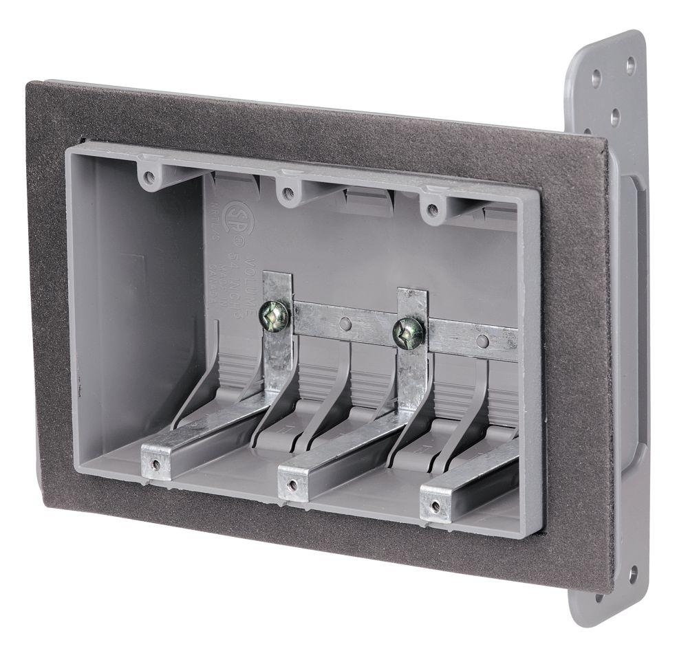 3 Gang Airtight Plastic Box