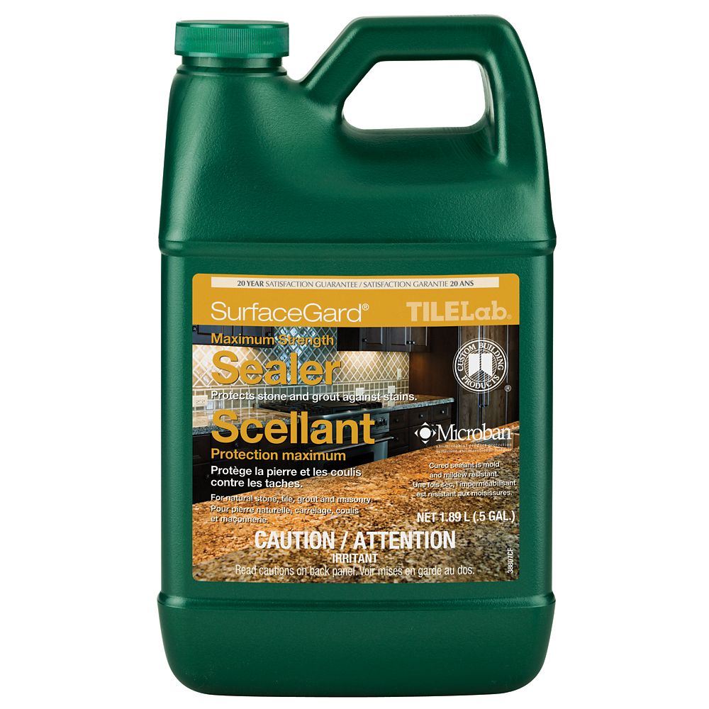 TileLab SurfaceGard Stone, Grout & Tile Sealer - Half Gallon