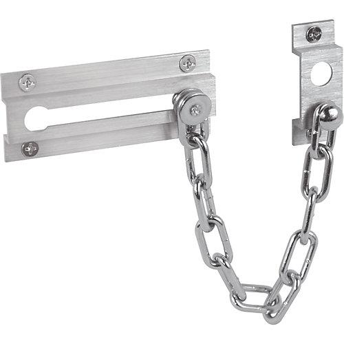 Prime-Line Satin Nickel Chain Door Lock | The Home Depot Canada