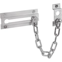 Prime-Line Satin Nickel Chain Door Lock