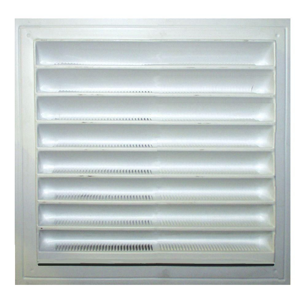 8 inch x 8 inch White Wall Louver Resin