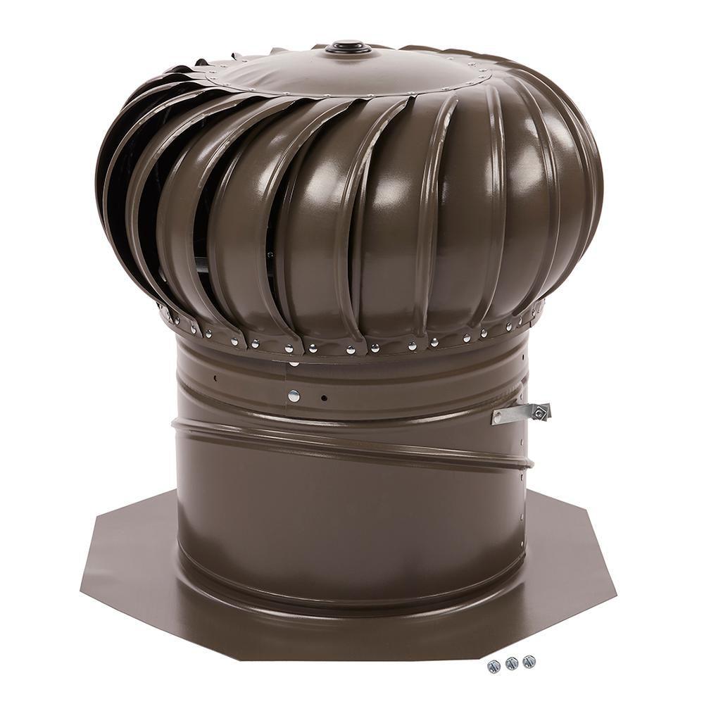 12 inch Weatheredwood  Turbine Galvanized Internally Braced Dual Bearing Combo