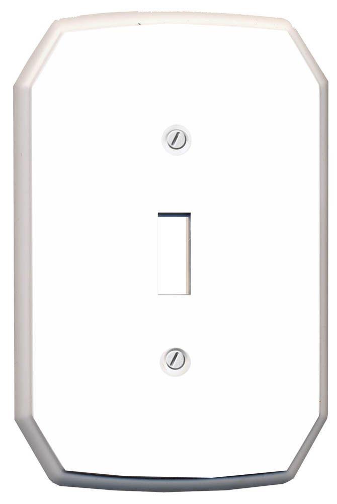 Plaque Murale Décorative Interrupteur  Classique  Plastique Blanc