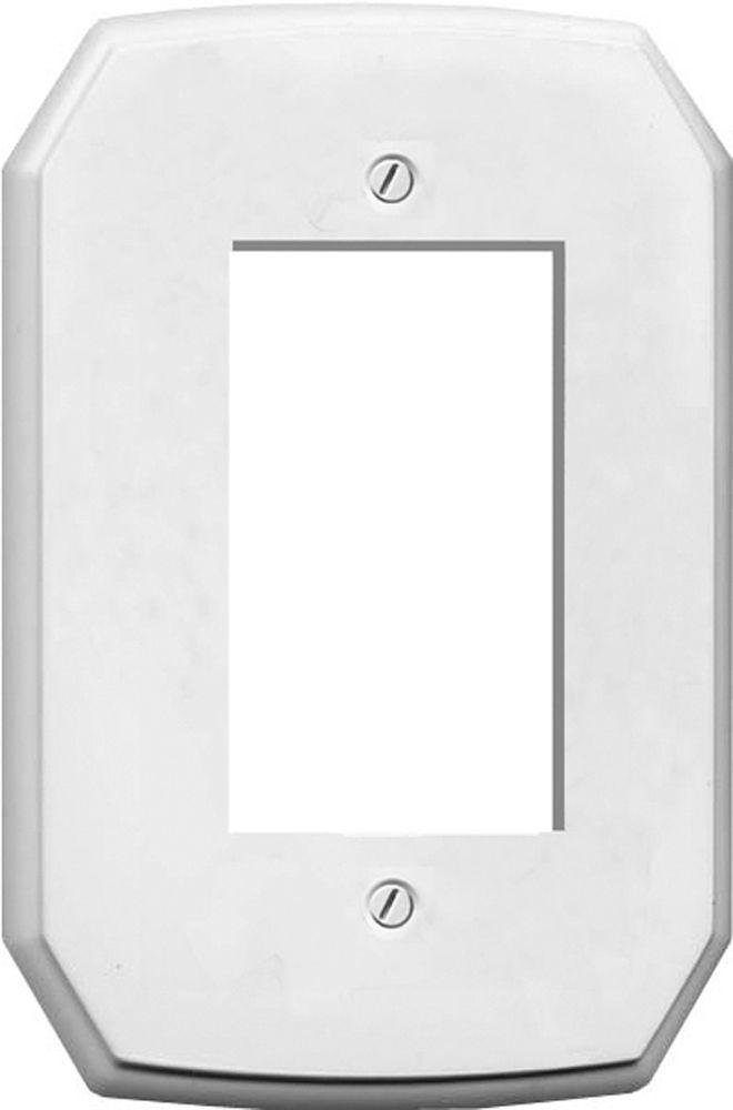Plaque Murale Décorative Décor Classique Plastique Blanc