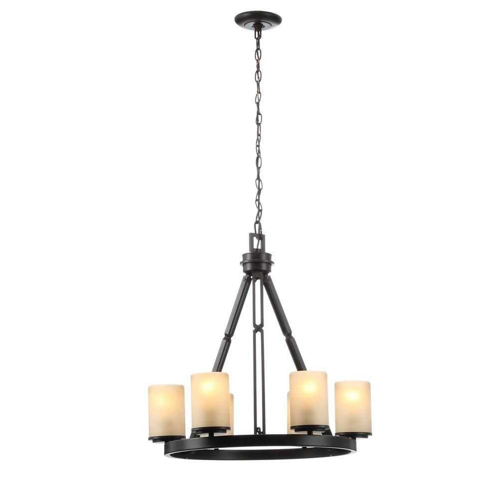 Hampton Bay Alta Loma 6-Light Bronze Dark Ridge Chandelier