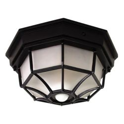 Heath Zenith 360 Degree Black Motion Activated Octagonal Ceiling Light