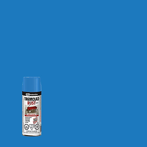 Oil-Based Rust Paint In Gloss Medium Blue, 340 G Aerosol Spray Paint