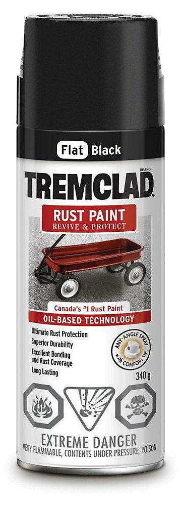 Rust Paint - Flat Black (340g Aerosol)