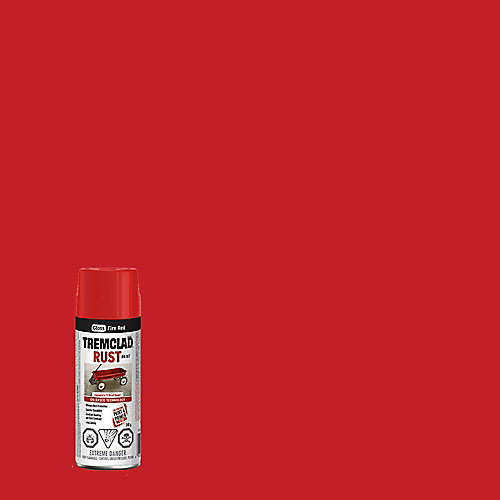 Oil-Based Rust Paint In Gloss Fire Red, 340 G Aerosol Spray Paint