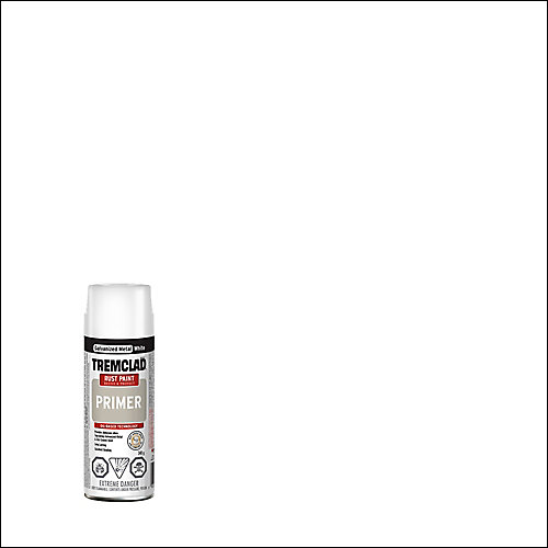 Oil-Based Rust Paint Primer In Galvanized Metal White, 340 G Aerosol Spray Paint