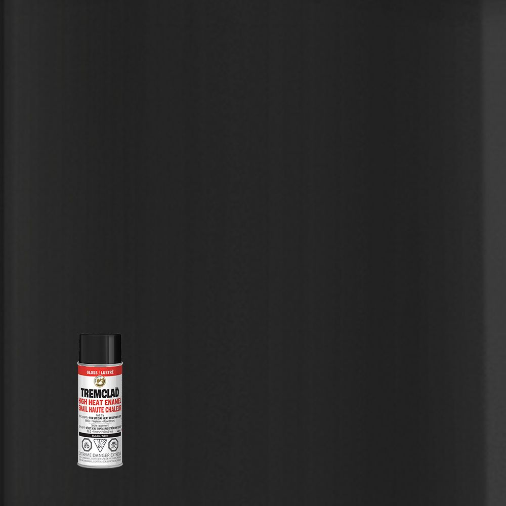 Peinture anti-rouille haute chaleur - Noir lustré