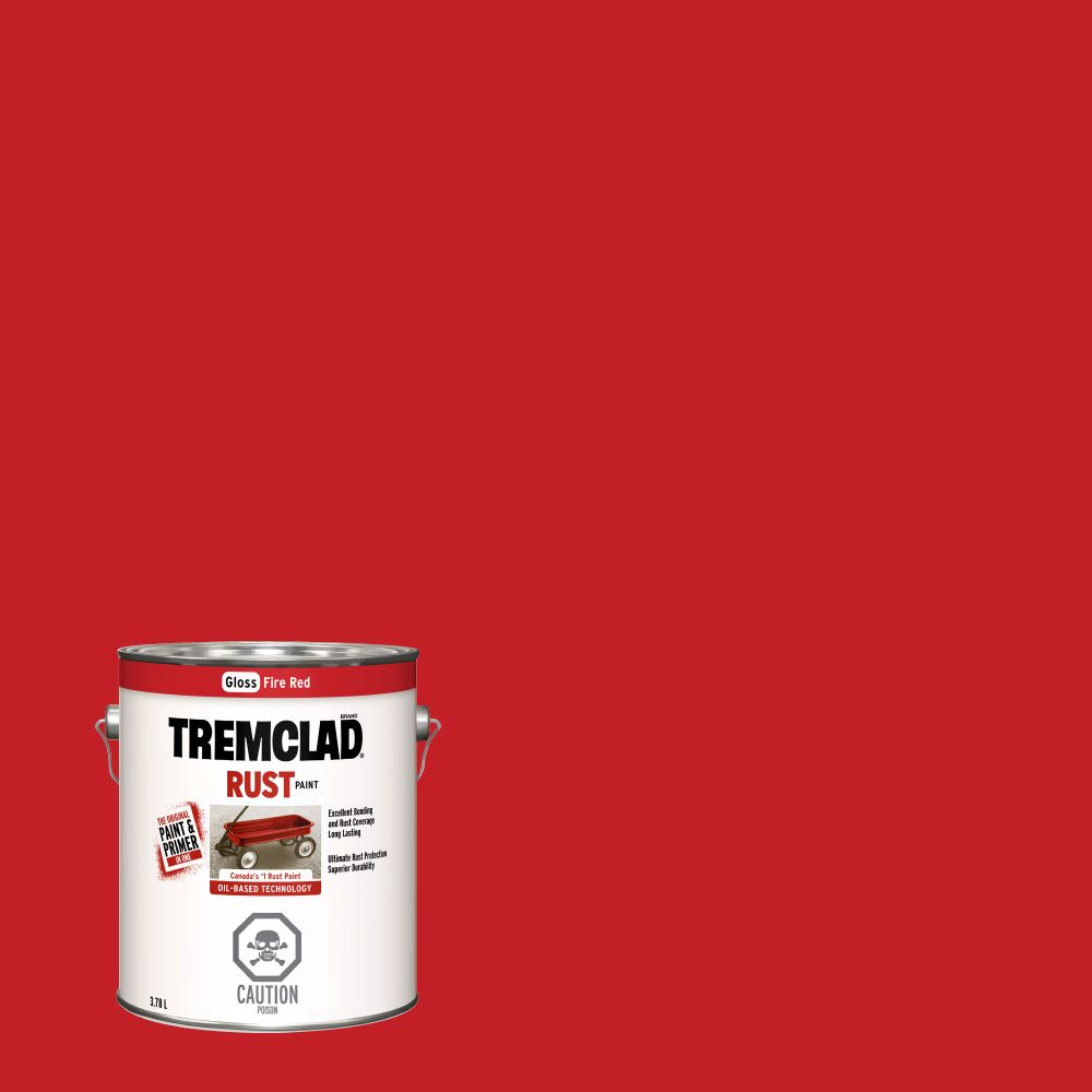 Peinture anti-rouille - Rouge feu (3.78L)