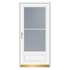 36-inch W 400 Series Venting White Screen Door with Brass Hardware