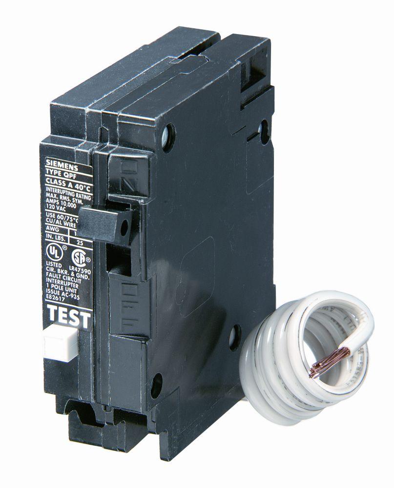 15A 1 pôle 120V Siemens de type Q DDFT disjoncteur