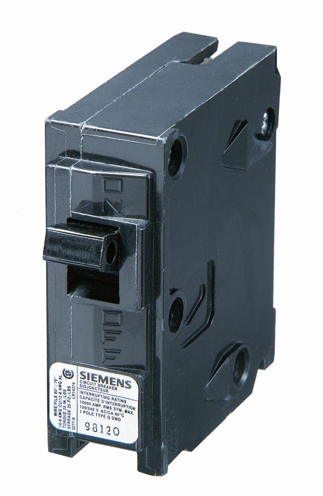 20A 1 Pole 120V Siemens Type Q Breaker Q120 Canada Discount