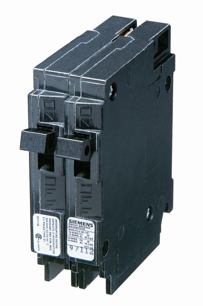 15A 1 Pole 120V Twin Siemens Type Q Breaker Q1515NC Canada Discount