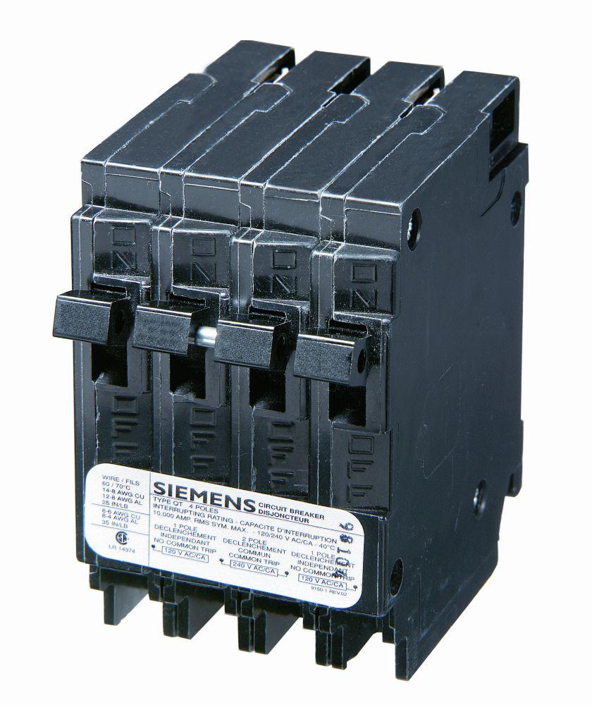 15/20A 2 Pole 120/240V Quad Siemens Type Q Breaker Q21520CTNC Canada Discount