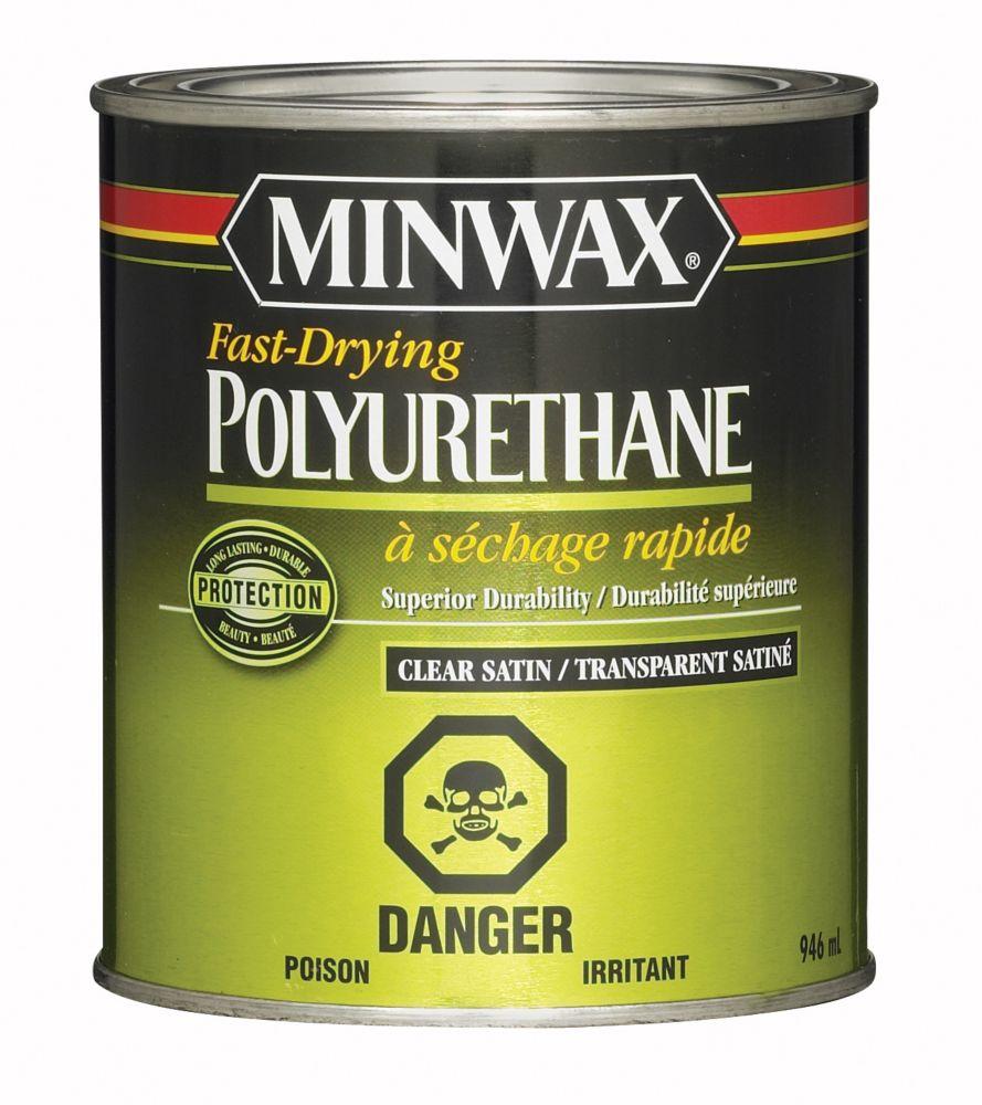 Minwax polyurethane satin the home depot canada for Minwax polyurethane