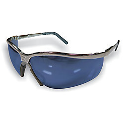 Extreme Shades Metal safety glass blue mirrored lens