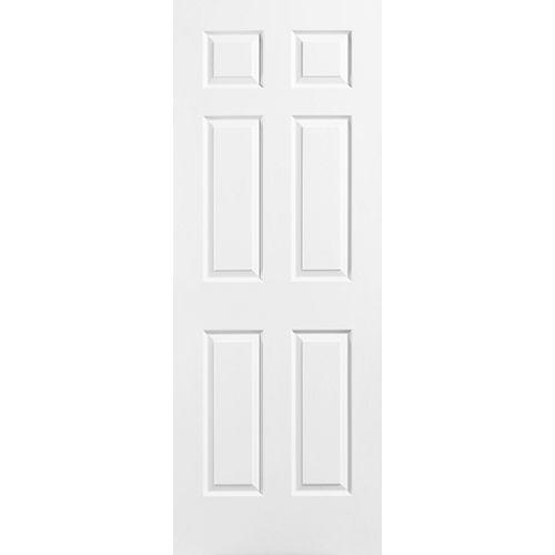 Masonite Porte unie texturée 6 panneaux 24 po x 78 po