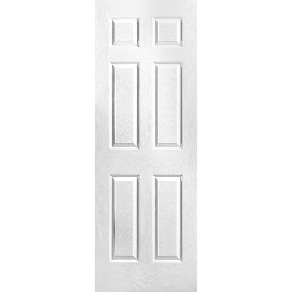 Porte unie texturée 6 panneaux 28 po x 78 po