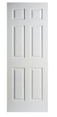 6 Panel Textured Door Slab 30in x 78in