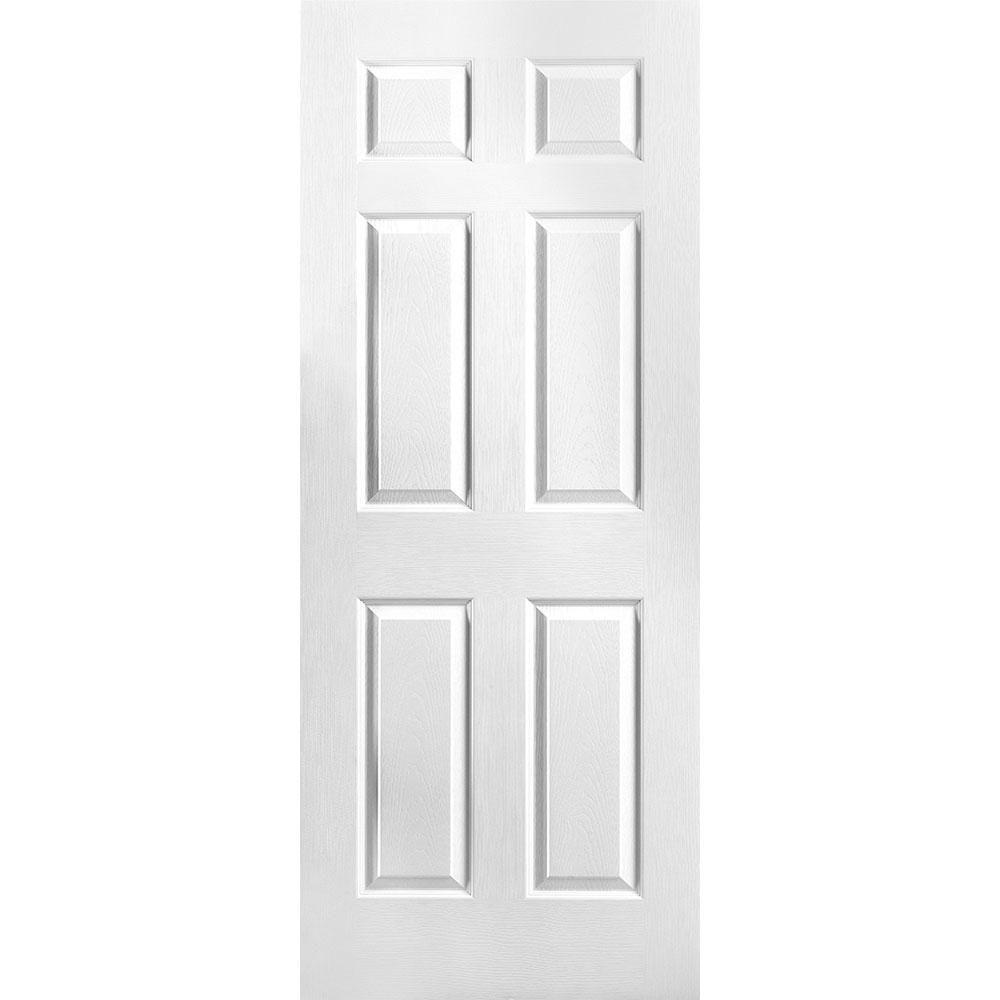 32-inch x 78-inch 6 Panel Textured Door Slab