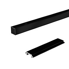 RailBlazers Standard Stair Picket & Spacer Kit, 6 Ft. - Black